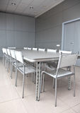 Empty grey meeting room Royalty Free Stock Photos