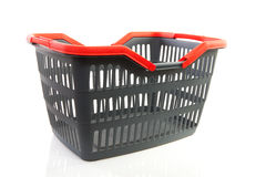Empty grey shopping basket Stock Photo