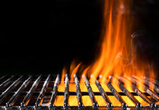 Empty grill grid with fire Royalty Free Stock Photography