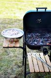 Empty grill ready for product placement royalty free stock photos