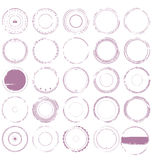 Empty grunge rubber stamp collection Royalty Free Stock Photos