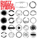 Empty Grunge Rubber Stamps. Illustration royalty free illustration