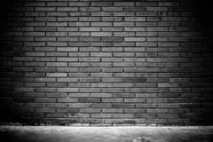 Empty grunge urban street brick wall texture background. Royalty Free Stock Images