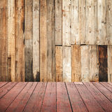 Empty grungy wooden interior background Stock Image