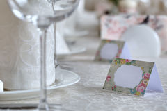 Empty guest plates Stock Photography