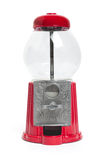 Empty gumball machine. Empty red gumball machine on a white background Stock Images