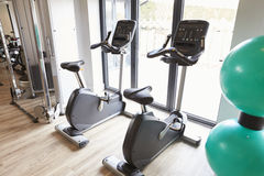 Empty Gym With Exercise Equipment Royalty Free Stock Image