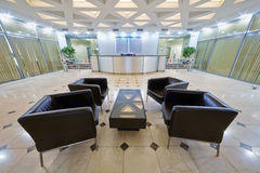 Empty hall with armchairs at business center Royalty Free Stock Photo