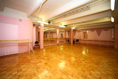 Empty hall. For ballet exercises Stock Photography