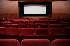 Empty hall of cinema Royalty Free Stock Photo