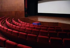 Empty hall of cinema Royalty Free Stock Images