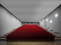 Empty hall of cinema Stock Images