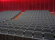 Empty hall of cinema Stock Photo