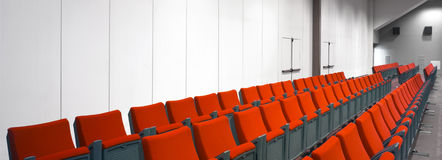 Empty hall of cinema Royalty Free Stock Image