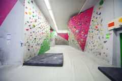 Empty hall of a climbing gym Bigwall Stock Images