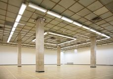 Empty hall with columns. Empty modern hall with columns Stock Photography