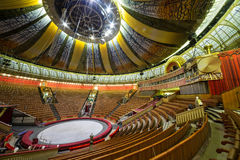 Empty hall of the Great Moscow State Circus Stock Images