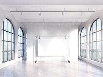 Empty hall with panoramic windows Royalty Free Stock Images