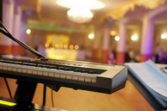 Empty hall during party or wedding reception Stock Photos