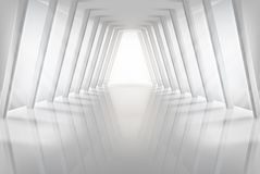 Empty hall in shopping centre. Vector illustration. Stock Photography