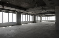 Empty hall under construction Stock Images