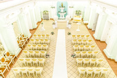 Empty hall for wedding ceremonies Stock Images
