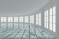 Empty hall with windows. Interior Stock Photos