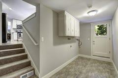 Empty hallway with exit to backyard area Stock Image