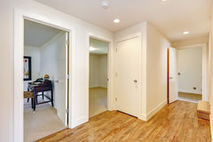Empty hallway with hardwood floor Royalty Free Stock Image