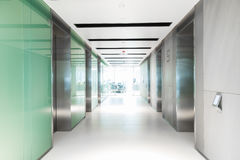 Empty hallway having elevator of business building. Empty hallway having elevator of office business building Royalty Free Stock Photography
