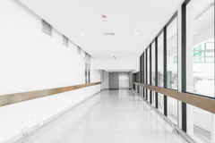 Empty hallway in the hospital Stock Photo