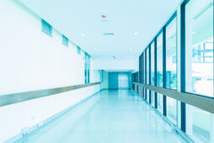 Empty hallway in the hospital Royalty Free Stock Photography