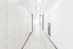 Empty hallway in the hospital. Empty hallway in the modern hospital Stock Photos
