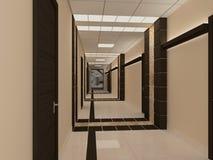 Empty hallway in modern building Royalty Free Stock Photos