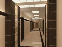 Empty hallway in modern building Stock Photos