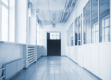Empty hallway in school Stock Image