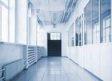 Empty hallway in school Stock Image