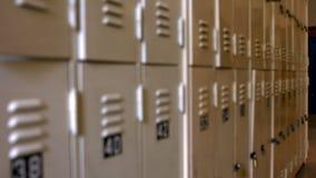 Empty hallway in a school stock footage