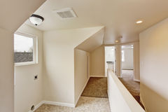 Empty hallway with vaulted ceiling Stock Photography
