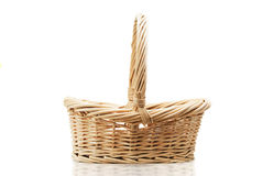 Empty halm basket Royalty Free Stock Images