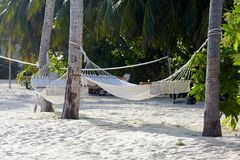Empty hammock Royalty Free Stock Images