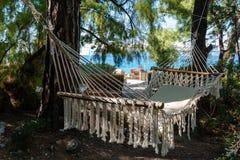 Empty hammock at the beach Royalty Free Stock Photography