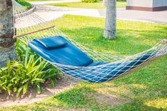 Empty hammock in the garden Stock Images