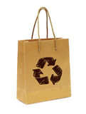 Empty hand  bag from recycle paper Stock Image