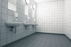 Empty hand on a clean public washrooms Stock Photography