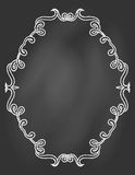 Ornamental frame on chalkboard Stock Photo
