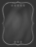 Chalk board and drawn frame on it Stock Photography