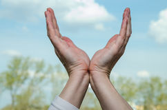 Empty hand gesture Royalty Free Stock Photography