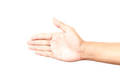 Empty hand isolated Royalty Free Stock Image