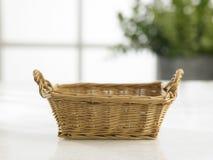 Empty hand towel basket Stock Photography